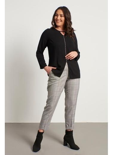 Myline Cep Detaylı Slim Fit Klasik Pantolon Gri